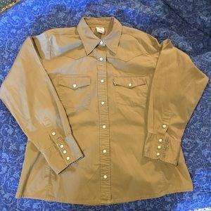 Tops - Brown Carhartt for women Western Style Shirt XL